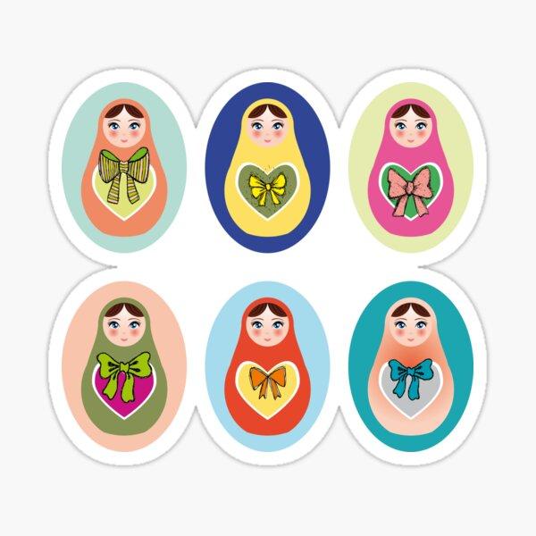 Nesting dolls Boris with balalaika for kids collection hamdmade matryoshka