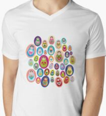 doll matryoshka Men's V-Neck T-Shirt