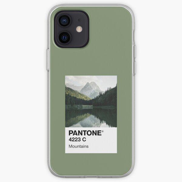 Montañas Pantone Funda blanda para iPhone