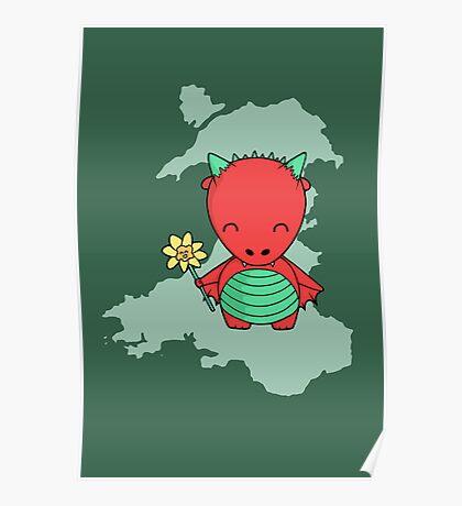 Little Welsh Dragon Poster