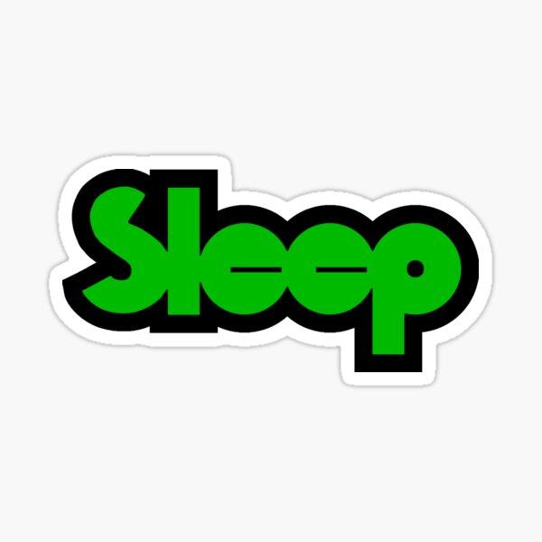 Sleep Black Band Sticker