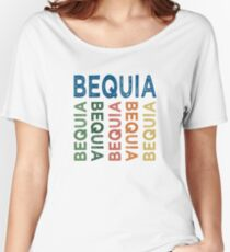 Bequia Cute Colorful Women's Relaxed Fit T-Shirt