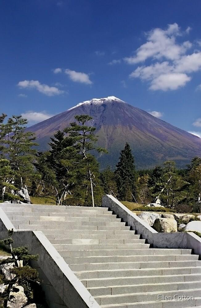Stairway to Mt. Fuji by Ellen Cotton