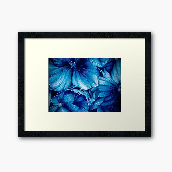 Blue Flower Bloom Framed Art Print