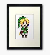 Legend of Zelda - Link Pixel Framed Print