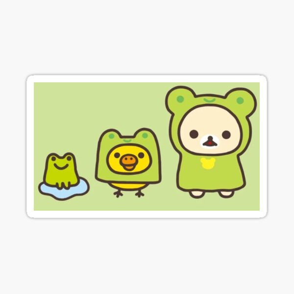 frog rilakkuma and friends ! Sticker