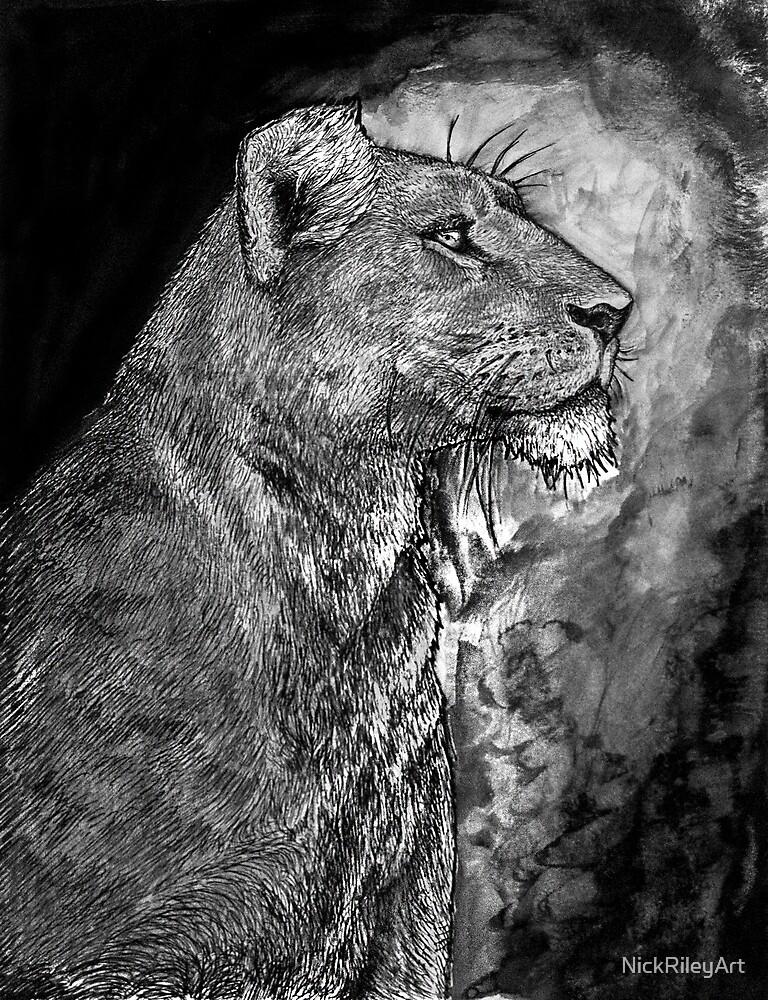 Lion by NickRileyArt