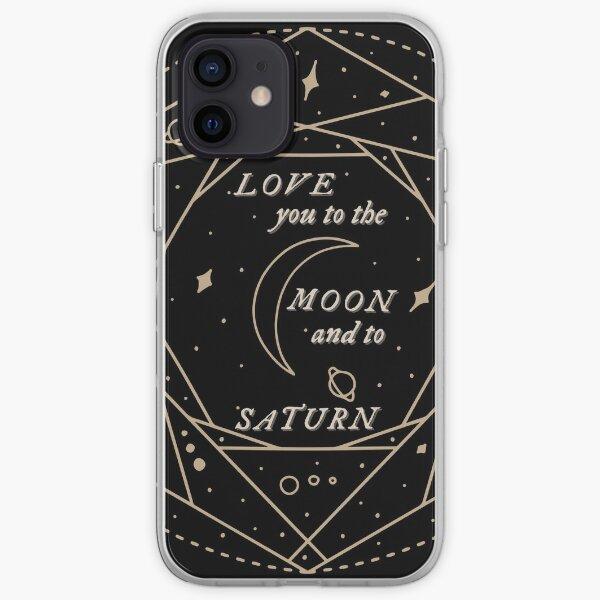 folklore sept paroles de Taylor Swift vous aime jusqu'à la lune Coque souple iPhone