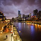 Yarra River at Night by Mick Kupresanin