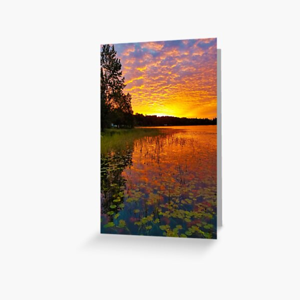 September Morn; Sunrise on September 1, 2020 in Minnesota Greeting Card