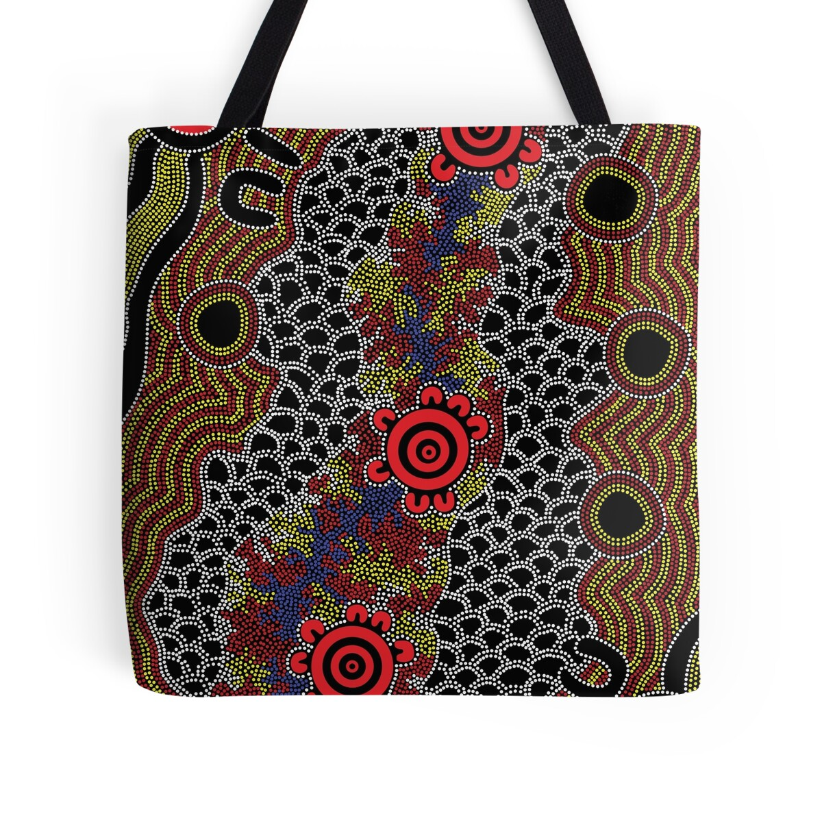 Quot Aboriginal Art Gathering Quot Tote Bags By Hogartharts