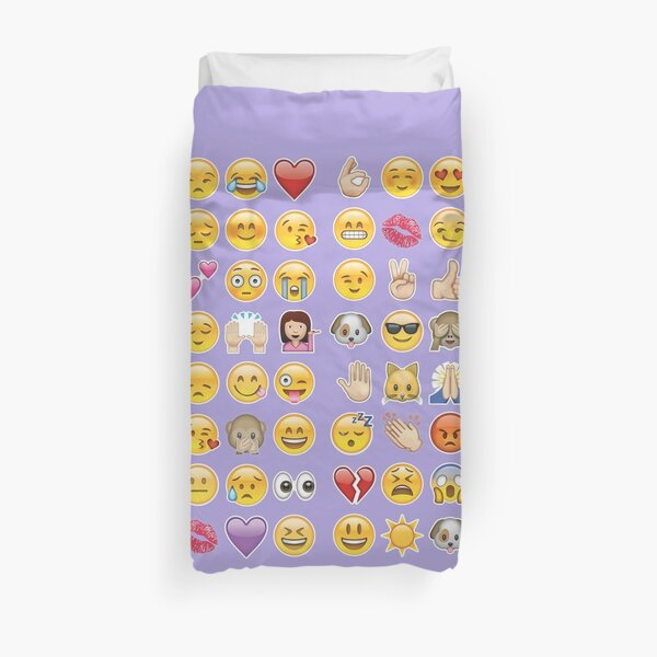 pastel purple emoji Duvet Cover