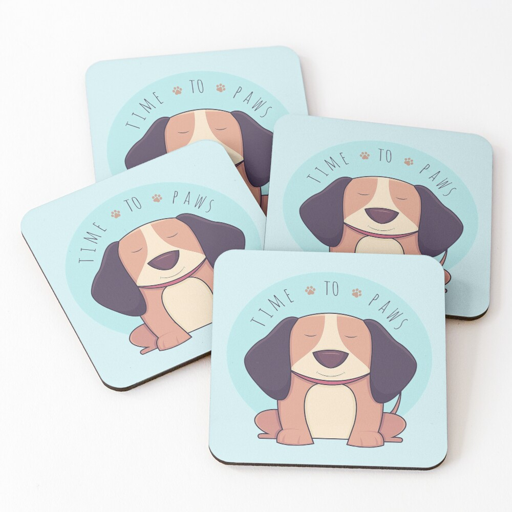 TIME 2 PAWS Coasters (Set of 4)
