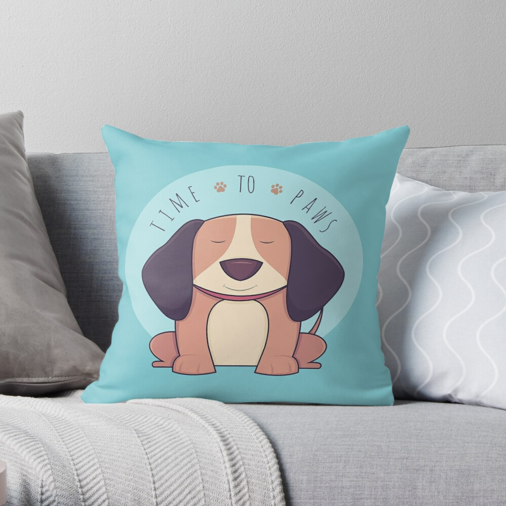 TIME 2 PAWS Throw Pillow