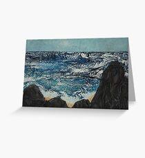 Mare in tempesta Greeting Card