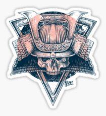 Samurai Skull Sticker