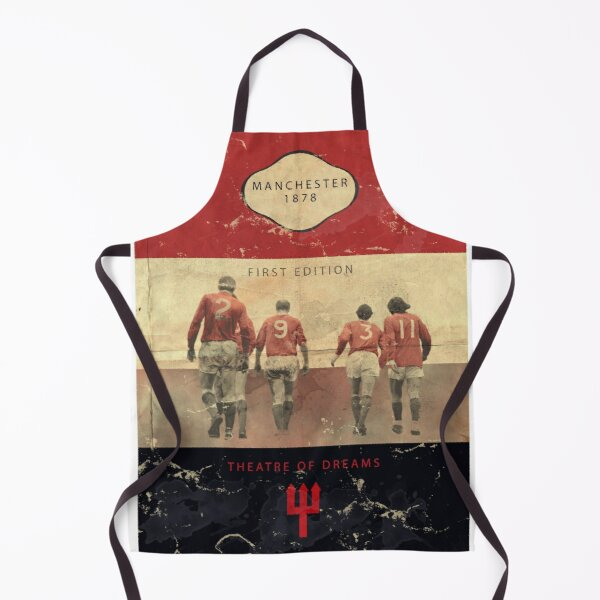 Vintage Manchester Football Book Cover  Apron