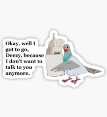 Mike Tyson Mysteries-- Pigeon Phone Sticker