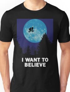 The X-Files: I Want to Believe Poster E.T Extra Terrestrial Spoof Unisex T-Shirt