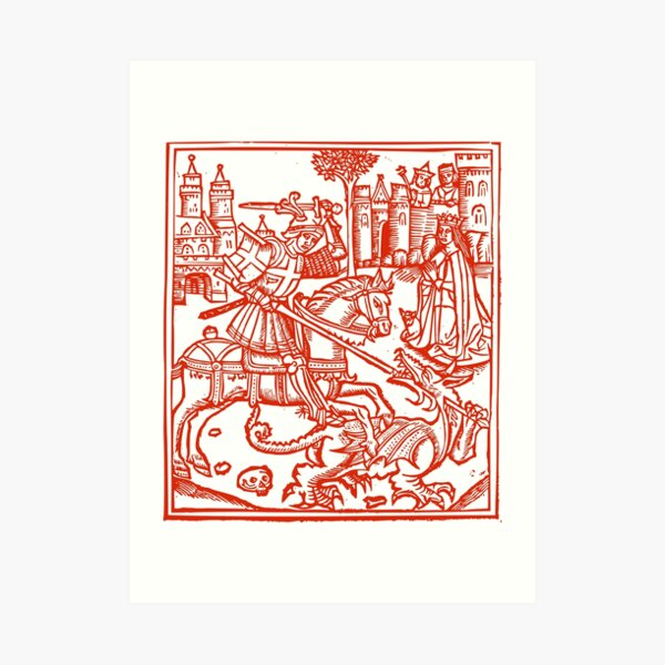 St George - Patron Saint of England Art Print