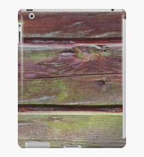 Horizontal timber wall with green mold iPad Case/Skin