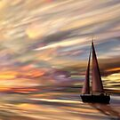 Painted Sunset by Cliff Vestergaard