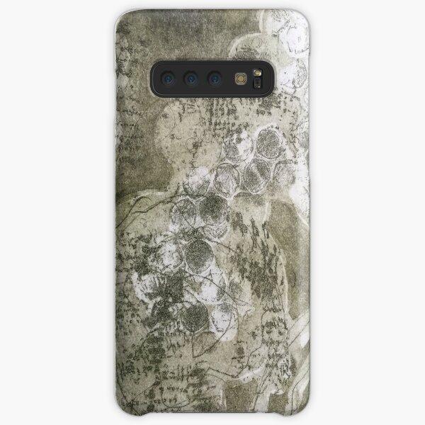 """Organika I"" Fine Art Gray Olive Organic Texture Etching Print Samsung Galaxy Snap Case"