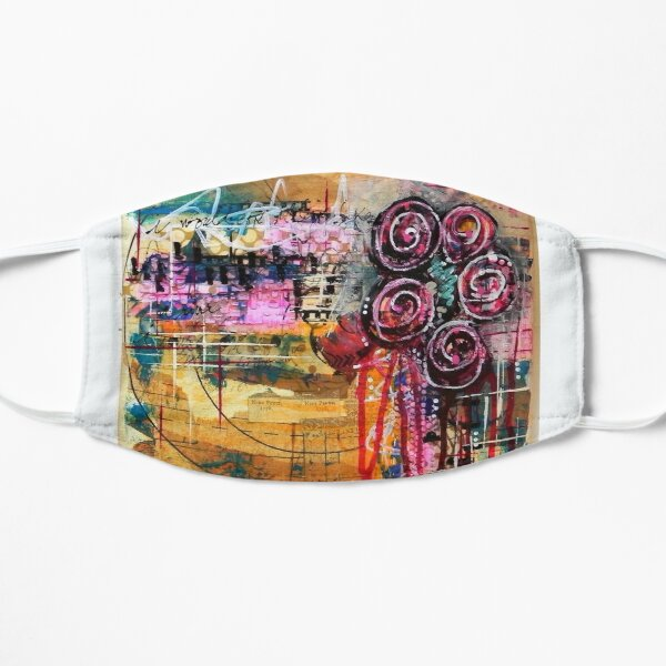 Abstract Weeping Floral Flat Mask