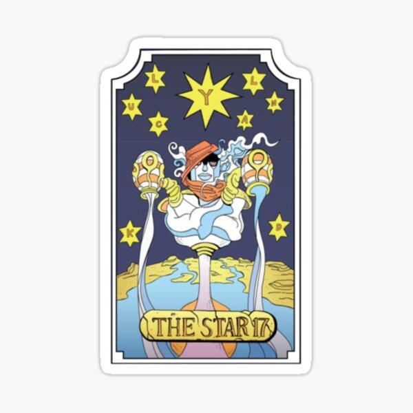 Carta del tarot la estrella Pegatina