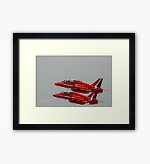 Red Arrows at Waddington Airshow Framed Print