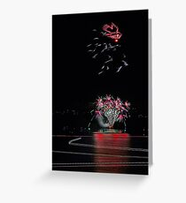 Point Walter Fireworks  Greeting Card