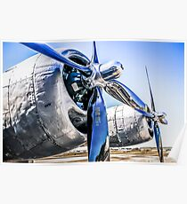 B29 Wright R-3350 Engines Poster