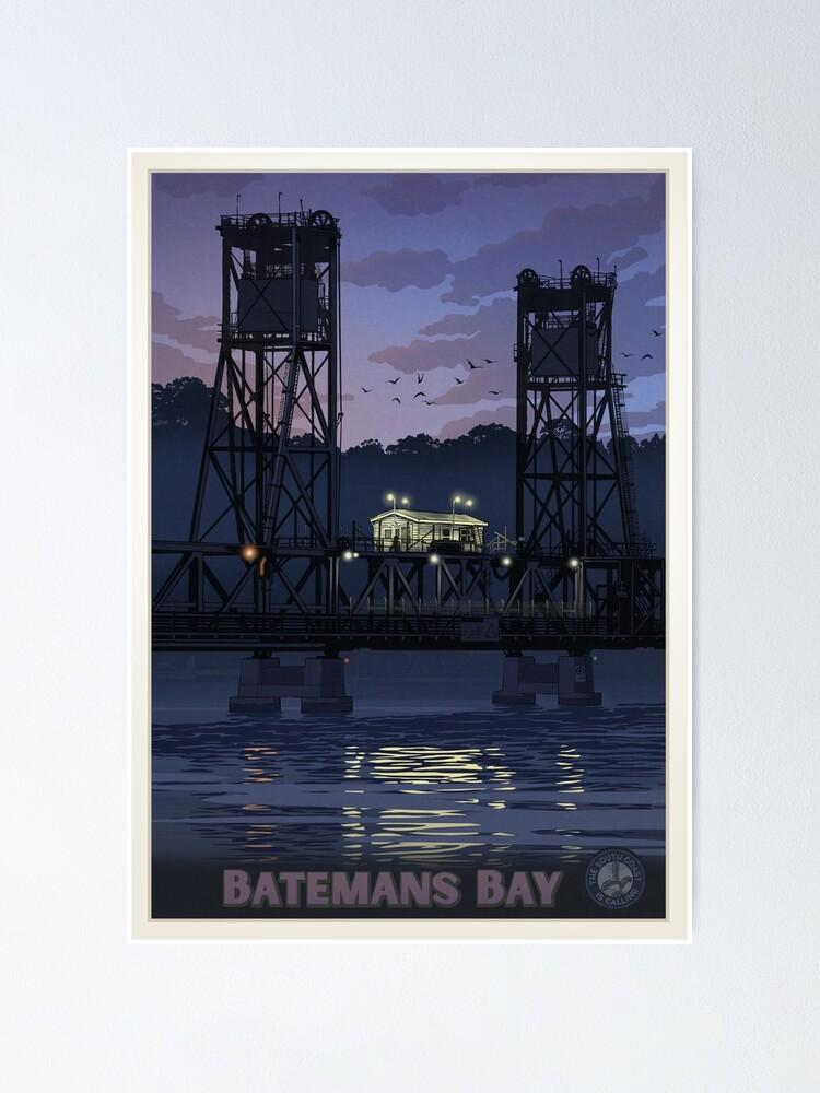 Alternate view of Batemans Bay Bridge Poster