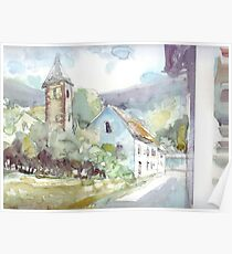 Sketch countryside plein air Poster