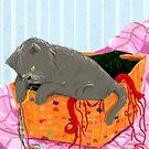 Cat Painting pt3 by Mark Padua