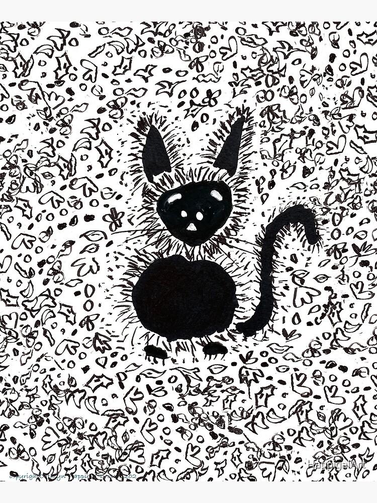 Black Cat Festive Autumn Pal by HappigalArt