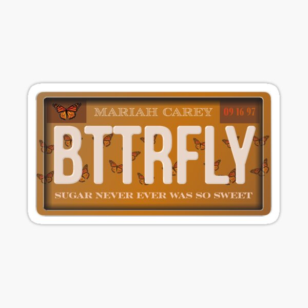 Butterfly Mariah Carey License Sticker