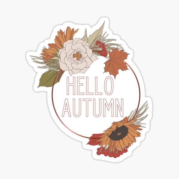 Hello Autumn Sticker