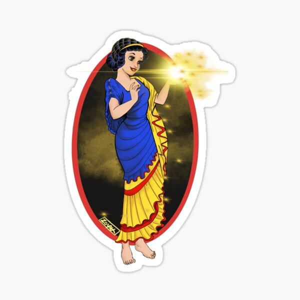 Hestia: the goddess of the hearth and home Sticker