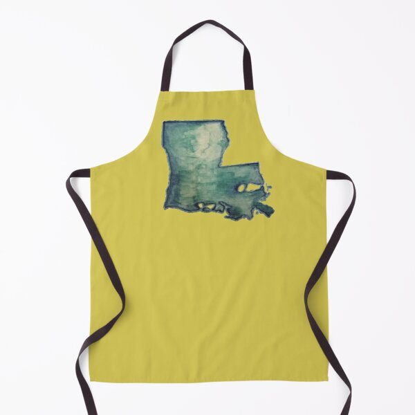Louisiana Watercolor Apron