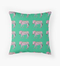 'Candy Cane Zebra' Candy Cane Throw Pillow