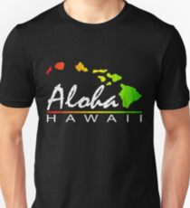ALOHA - Hawaiian Islands (vintage distressed design) Slim Fit T-Shirt