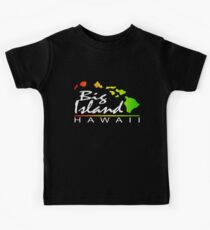 Big Island Hawaii (vintage distressed design) Kids Tee