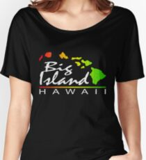 Big Island Hawaii (vintage distressed design) Women's Relaxed Fit T-Shirt