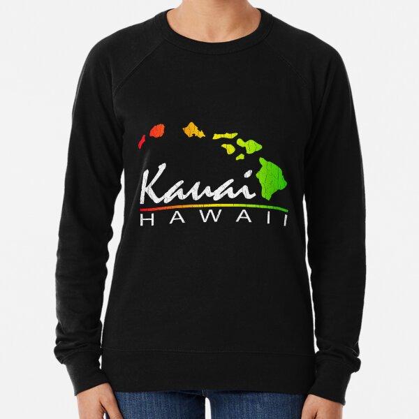 Kauai Hawaiian Islands (vintage distressed design) Lightweight Sweatshirt