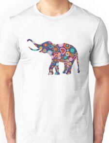 Colorful Floral Elephant 2 T-Shirt