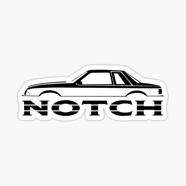 87-93 Mustang Coupe Sticker