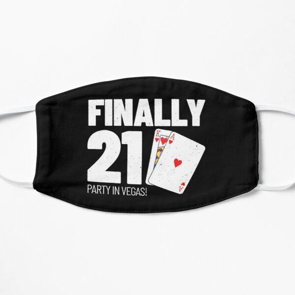 21st Birthday - Party in Las Vegas Gift - Finally 21 Flat Mask