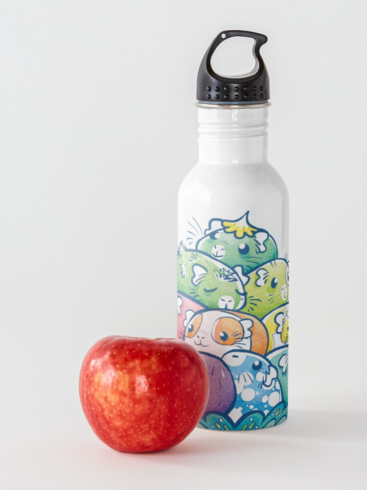 Alternate view of Blooming Piggy Pile in Blue Water Bottle