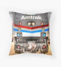 Amtrak Throw Pillow